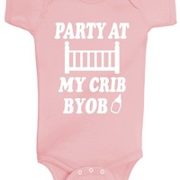 Baby Girl Party At My Crib Bodysuits