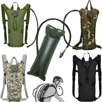 Back Camel 3L Water Bladder Hydration Backpack Pack for Outdoor Hiking Camping Running