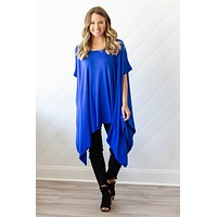 Good Times Roll One Size Top- Royal Blue
