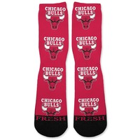 Chicago Bulls Custom Athletic Fresh Socks