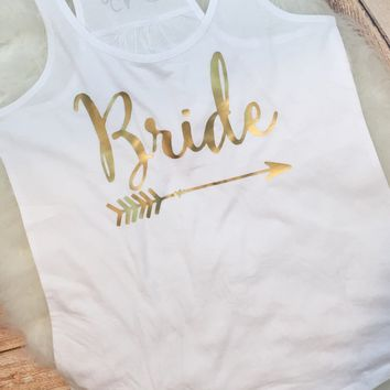 Bride Tribe Bachelorette Party Matching Tanks or Tees