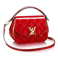 Authentic Louis Vuitton Monogram Vernis Pasadena Cross Body Handbag Article: M90944 Cherry Made in France Tagre™