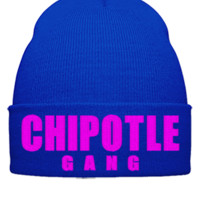 chipotje gang embroidery hat - Beanie Cuffed Knit Cap