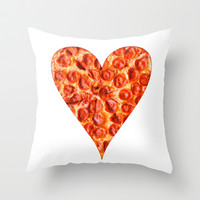 PIZZA Throw Pillow by Good Sense