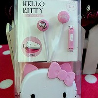 New Hello kitty Earphone ear headphone microphone MP4 MP3 Mobile Phone Laptop iphone yey-k525
