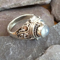 Sterling Silver Poison Moonstone Ring