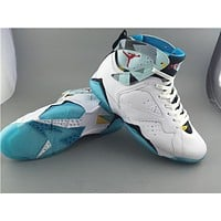 Air Jordan 7 white/blue Basketball Shoes 41-47
