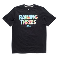 NIKE RAINING THREES TEE - BLACK | Undefeated