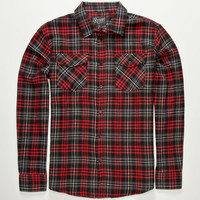 Retrofit Ingelwood Mens Flannel Shirt Red  In Sizes