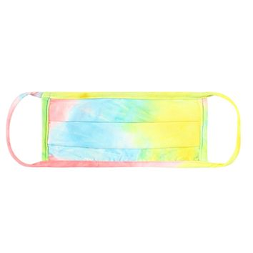 Pink/Blue/Yellow Tie Dye Face Mask - Covid 19