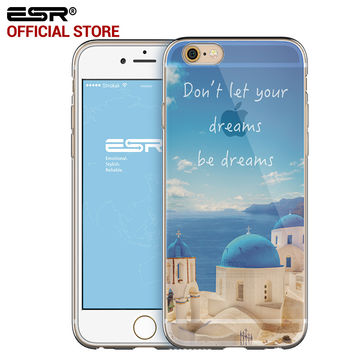 ESR Soft TPU Pretty Pattern Protective Silicon Case Ultra Thin Gel Cover for iPhone 6 Plus/6s Plus