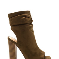 Heel Me Slouchy Cut-Out Booties