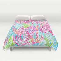 Lets Cha-Cha Duvet Cover by uramarinka