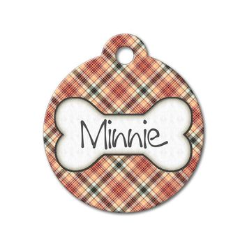 Red Plaid - Pattern Pet Tags