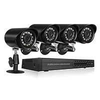 4 Channel Complete 1080p CCTV Camera Security System w/ 1TB DVR- NEW!!
