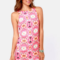 Totally Blossom Pink Floral Print Dress