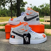 Nike AF1 Air Force One Sneakers Couple Casual High-Top Sneakers