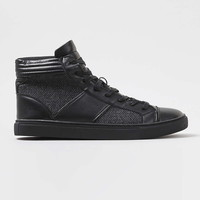 Black Leather Sport Lace Up Boots