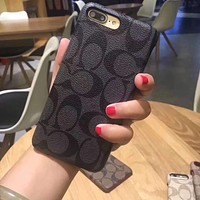 COACH Fashion iPhone Phone Cover Case For iphone 6 6s 6plus 6s-plus 7 7plus 8 8plus X
