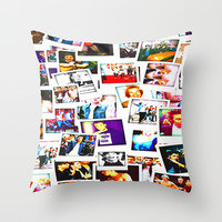 POLAROID ONE DIRECTION 1D Throw Pillow by BESTIPHONE5CASESHOP