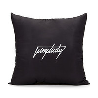 FOREVER 21 Abstract-Windowpane Print Pillow Black/Cream One