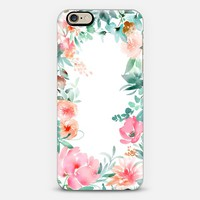 Lush Floral Watercolor by Julie Song Ink iPhone 6 case by juliesongink | Casetify