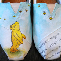 Winnie the Pooh and Bumble Bees Custom TOMS (Classic Disney Illustration)