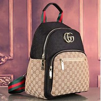 Gucci Women Leather Shoulder Bag Satchel Handbag Backpack-1