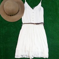 STAY AWHILE DRESS IN CREAM