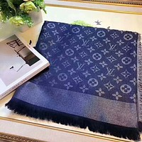 LV Louis Vuitton New fashion more letter print couple leisure women comfortable scarf