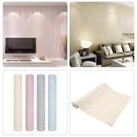 Hot  Simple Modern Home Embossed Textured Lines Wallpaper Roll Striped wallpapers for living room bed room,wall paper for walls