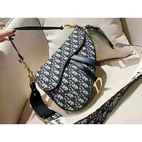 DIOR fashion printed ladies shopping bag hot selling shoulder bag