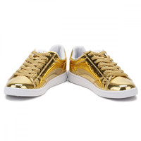 Ellesse Womens Antique Gold Anzia Metallic Trainers