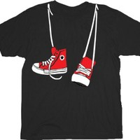 Step Brothers Shoe Sneakers Hanging Black Adult T-shirt Tee