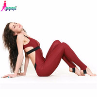 Gagaopt 2016 New Running Jumpsuit Sexy Backless Rompers Sport Skinny Bodysuit Fashion Bandage Cotton Lady Playsuit Femme