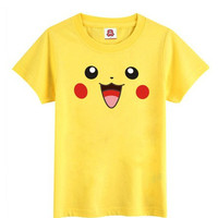 Pokemon Smiley Pikachu Face Yellow T-Shirt