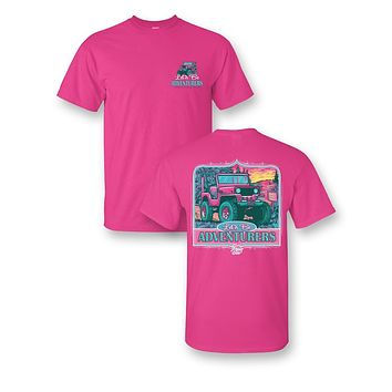 """Sassy Frass Tees Jeep """"Let's Be Adventurers"""" Shirt"""