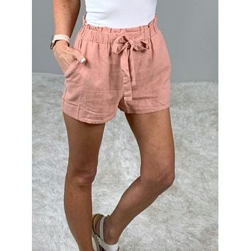 Wrapped Up In Love Paper Bag Shorts
