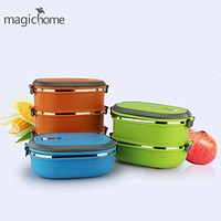2017 New Hot Eco-friendly Multilayer Bento Box Sale Solid Bowls Stainless Steel LunchBox 1.8l Food Container Cute Hand Pot