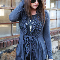 The Cassie Cardi {Charcoal Gray}
