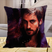 Once Upon a Time Captain Hook on Square Pillow Cover