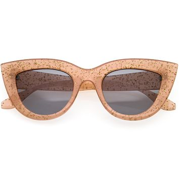 Classy Oversize Vintage-Inspired Round Cat Eye Sunglasses D219