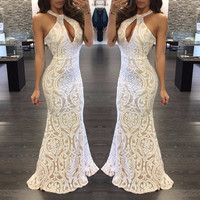Alesea Lace Maxi Gown