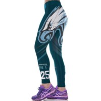 Philadelphia Eagles Print Workout Leggings