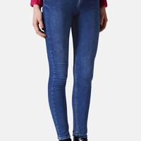 Women's Topshop Moto 'Jamie' High Rise Skinny Ankle Jeans (Blue)