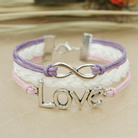 by (Umonster) Infinity bracelet - love bracelet with infinity symbol for girls and BFF