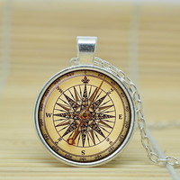 Old Compass Nautical Necklace: SAVE $3 TODAY