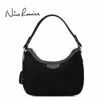 2018 New Women Real Suede Leather Small Shoulder Bag Brand Female Leisure Cossbody Hobo Handbag For Lady Blosa Top-handle Bags