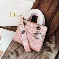 Dior Fashion new versatile patent leather handbag shopping bag shoulder bag