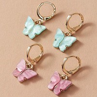 Fashion Casual 2pairs Butterfly Decor Ear Cuff
